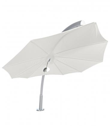 Parasol Icarus par Umbrosa un parasol en forme de feuille coloris solidum Canvas par leparadisdujardin