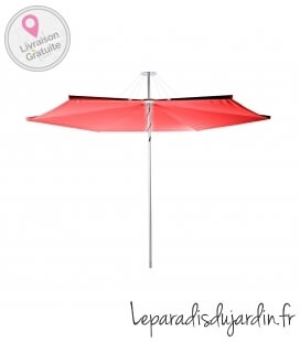 Umbrosa Infina parasol round shape diameter 300cm aluminum post color Pepper fabric