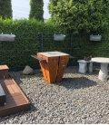 Brasero barbecue de forme cubique Magnus en acier de qualité allemande par remundi