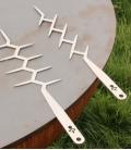 Broche ustensile en inox remundi hercule ou achille pour réaliser des brochettes robustes