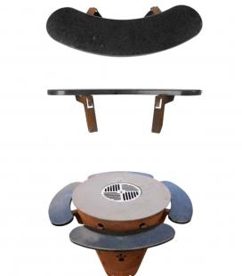 Tablette incurvée accessoire supplémentaire pour le brasero barbecue caesar en granit Remundi