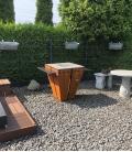 Tablette droite accessoire supplémentaire pour le brasero barbecue magnus en granit Remundi