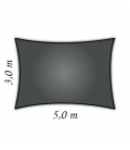 Voile rectangle 3x5m Densité 285gr hdpe Nesling coloris anthracite