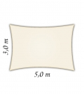 Voile rectangle 3x5m Densité 285gr hdpe Nesling coloris crème