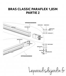Pièces de rechange - Bras Paraflex Classic 1,85m Umbrosa partie 2