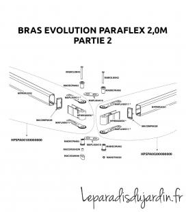 Spare parts - Paraflex Umbrosa Evolution arm 2016-2019