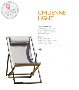 Chilienne Light bord de piscine