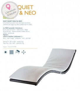 Easy quiet Solo deckchair with hemisphere edition features