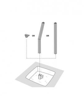 Ancre de bétonnage à sceller 90° Ingenua et Paraflex