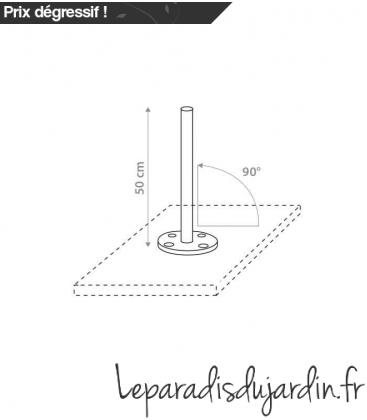 Support de socle rond 90 degré pour mat ingenua ou paraflex