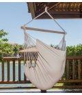 Chaise hamac à pendre TRANKIL heol jobek couleur écru