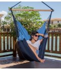 Chaise à pendre TRANKIL hamac heol jobek coloris bleu caraïbe