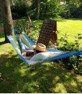 Jobek heol hammock 100% natural Kolor green-blue-ecru color