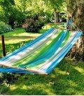 Hamac jobek heol 100% naturel Kolor coloris vert-bleu-ecru