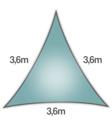Openwork Equilateral Triangle sail 3.6m ice blue new for 2020