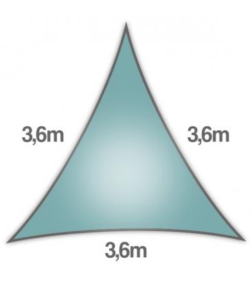 Voile Triangle Equilatéral ajourée 3,6m bleu glacial nouveauté 2020