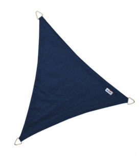 Voile Triangle Equilatéral ajourée 3,6m bleu marine nouveauté 2021