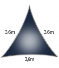 Voile Triangle Equilatéral 3,6m
