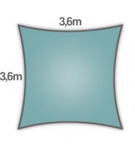 Voile Carré ajourée 3,6m bleu glacial nouveauté 2021