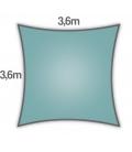 Voile d'ombrage carré 3,6m Nesling