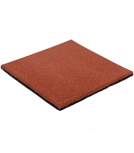 Green or red shock-absorbing rubber slab