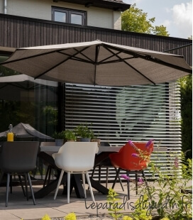 Parasol classic deported Nesling Openwork HDPE density 285Gr base available anthracite