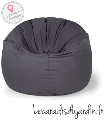 Pouf rond Donut tissu PLUS COLORIS ANTHRACITE OUTBAG