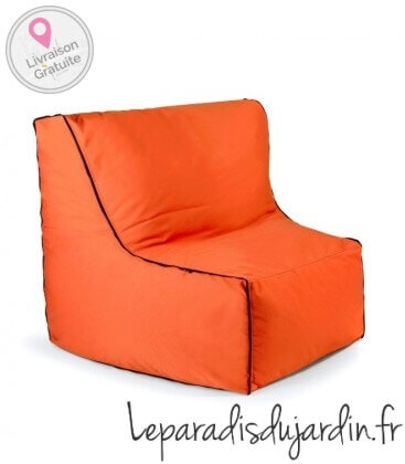 Canapé d'extérieur Piece zip Outbag Tissu plus orange