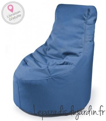 Petit pouf poire Slope XS couleur bleu marine