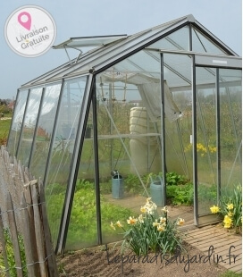 Greenhouse oblique walls S104H ACD 9.12m² - 306 x 298cm