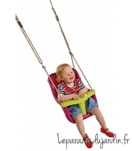 siège bébé luxe fushia et vert