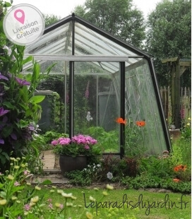 Greenhouse oblique walls S106H ACD 13.62m² - 306 x 445cm