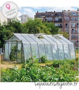 Greenhouse Oblique Walls S208H ACD 22.53m² - 380 X 593cm
