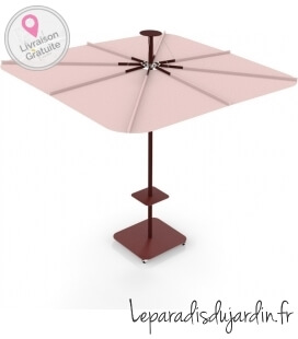 Parasol Infina UX Culture colors Sunbrella Blush and Bordeaux posts by Umbrosa new for 2021