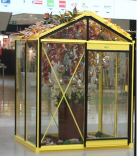 Greenhouse in glass Piccolo P02 ACD 2.35m² traffic yellow