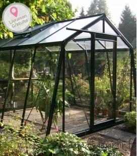Greenhouse oblique walls S104H ACD 9.12m² - 306 x 298cm black