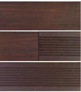Dark brown bamboo decking board 20 x 137 x 1850