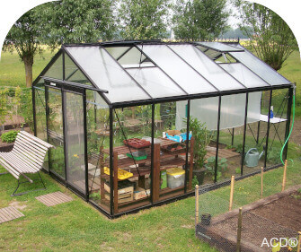 ACD straight wall greenhouse