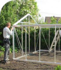mounting an ACD greenhouse frame