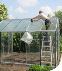 fixing of ACD greenhouse roof reinforcements