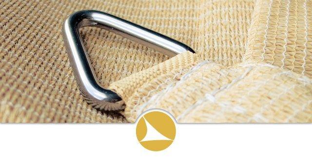 qualité de tissage de la voile et des anneaux en inox 316