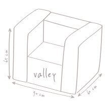croquis dimension pouf fauteuil de plein air outbag Valley