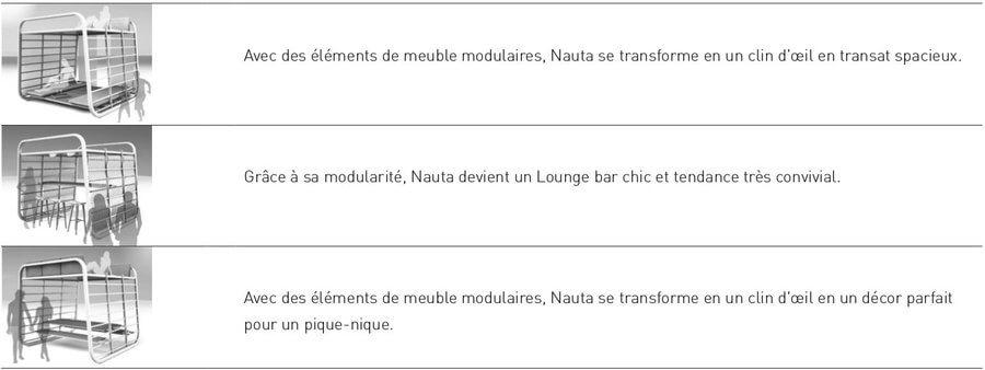 avec de simples éléments nauta par umbrosa se transforme en transat, lounge, bar et décor pour pique nique