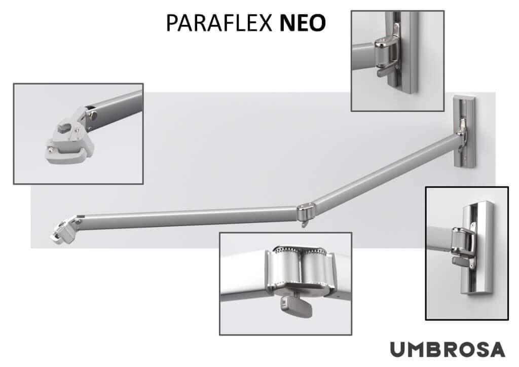 bras classic parasol déporté paraflex wallflex umbrosa.